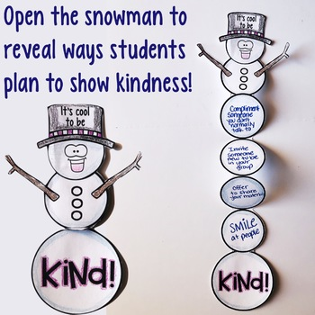 Winter Kindness Activity for Classroom Guidance Lesson or Group Counseling
