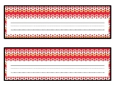 Winter Knit Pattern Desk Name Plates, Name Tags, Labels, Classroom Décor