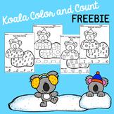 Winter Koala Color & Count Freebie