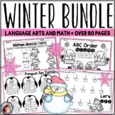 Winter Worksheets Bundle (Math and Language Arts)
