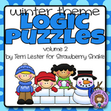 Winter LOGIC PUZZLES:  5 Critical Thinking Activities with Grids and Tables