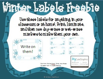 Winter Labels Freebie