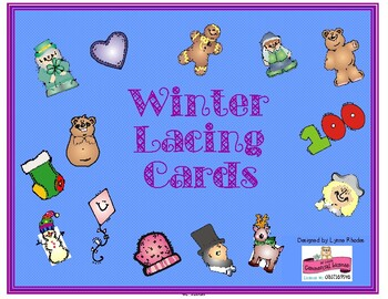 Winter Lacing Cards