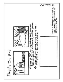Winter Landscape - Visual Art Lesson Unit - 1st - 8th Grade