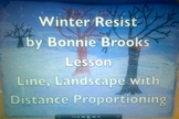 Winter Landscape Resist for Elementary Students