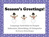 Winter Language Activities: Inference, Describing, Categories