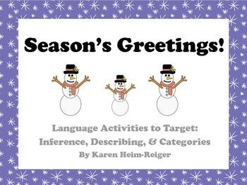 Winter Language Activities: Inference, Describing, Categories