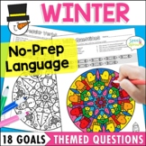 Winter Speech and Language Activities with Mandala Coloring pages