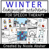 Winter Language Activities for Speech Therapy