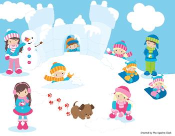 Winter Language Building Activity