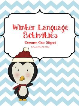 Winter Language Activity Packet: Common Core Aligned