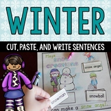 Winter Cut and Paste Word Work Sentences