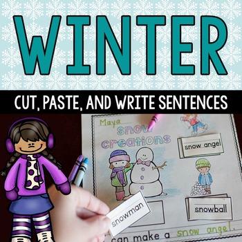 Winter Cut and Paste Language Arts