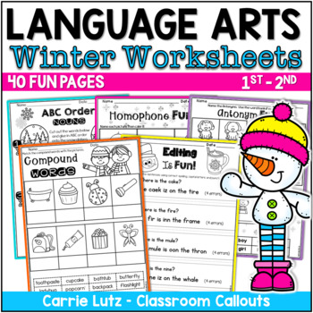 Winter Worksheets for Language Arts