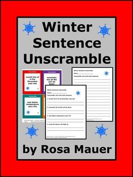 Winter Sentence Unscramble