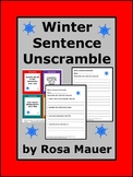 Winter Sentence Unscramble