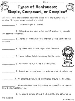 Winter Language Arts Skills Teach & Review (parts of speech, sentences, & more!)