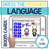 Winter Language Boom Cards™️ for Speech Therapy Penguin Theme