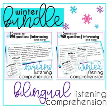 Winter Language Comprehension Bilingual Bundle
