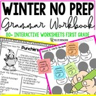 Grammar No Prep Winter Printables First Grade