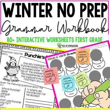 Winter Language Conventions No Prep Grammar Printables {Gr