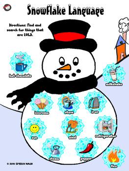 Winter Language DOT Sheets - NO PREP