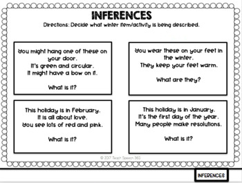 Winter Language Flip Book