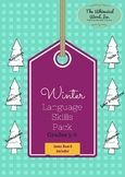Winter Language Pack Speech Teletherapy Game Included
