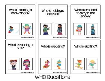 Winter Receptive Language Activities & Games