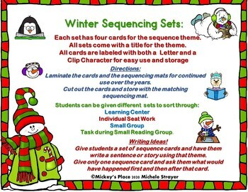 Winter Language  and Writing Sequencing