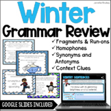Winter Language Task Cards {4th and 5th Grade}