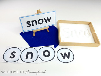 Winter Language: Winter  Word, Montessori 3 part cards, snowball letters & more!