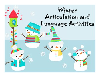Winter Language and Articulation Activities for mixed grou