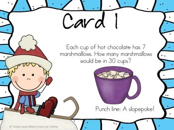 Winter Laughs- A Math Review and Winter Joke Walk the Room Activity Gr. 3
