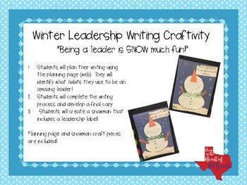 Winter Leadership Writing Craftivity