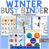 Winter Learning Binder for Toddler & Preschool - Quiet Boo