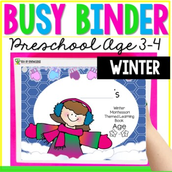 Winter Printable Learning Busy Book Preschool Toddlers Age 3 4 Custom