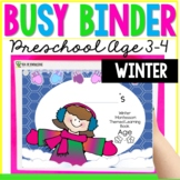 Winter Learning Busy Book Binder Preschool Toddlers Age 3-