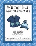 Winter Learning Centers, Winter Animal Tracks, Winter Clot