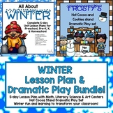 Winter Lesson Plan & Hot Cocoa Stand Dramatic Play Bundle