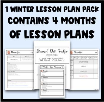 Winter Lesson Plan Pack - BUNDLE