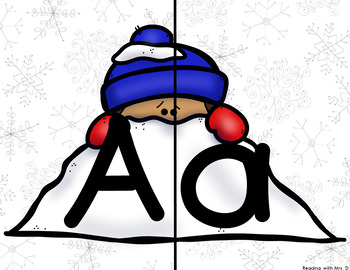 Winter ABC Letter Match Game