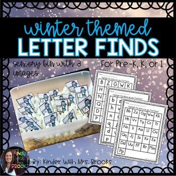 Winter Letter Finds (for sensory tub)