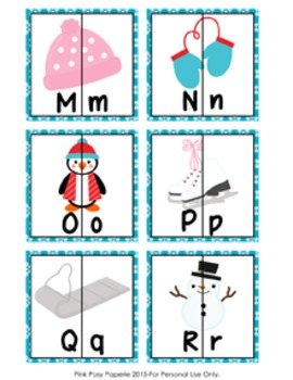 Winter Letter Match Puzzles