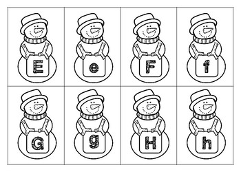 Winter Letter Matching Cards