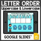 Winter Letter Order Google Slides for Google Classroom Dis