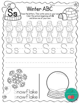 Winter Letter Practice