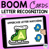 Winter Letter Recognition Boom Cards - Uppercase Letter Matching
