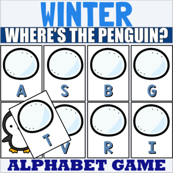 Winter Letter Recognition Center or Whole Group Game