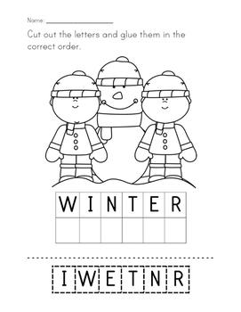 Winter Letter Scrambles!